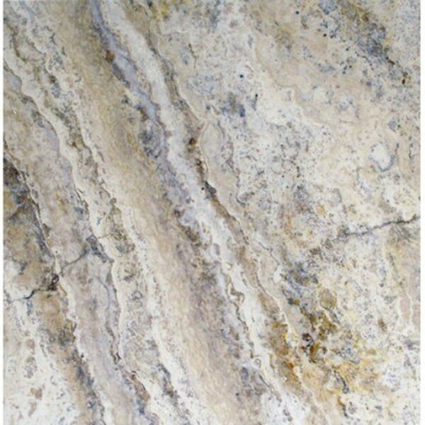 Philadelphia Travertine Field Tile in Honed, Unfilled and Chipped Brushed Gray by MSI