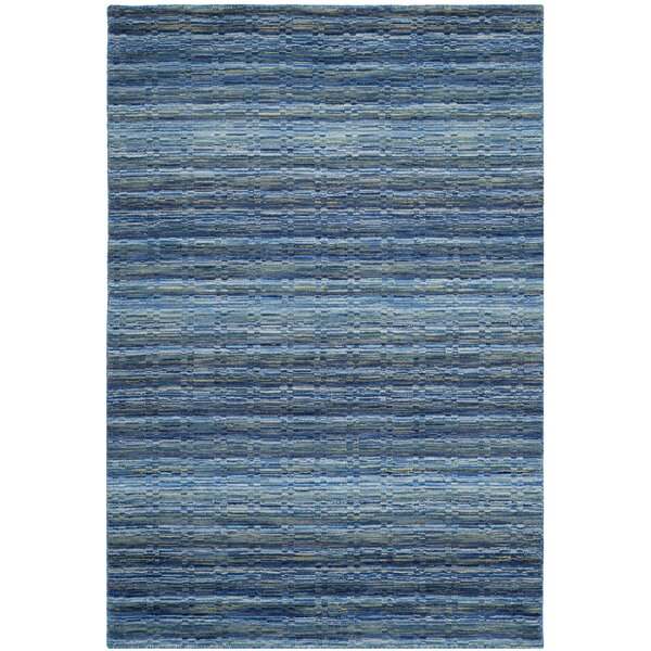 Sherri Hand-Woven Wool Blue Area Rug by Zipcode Design