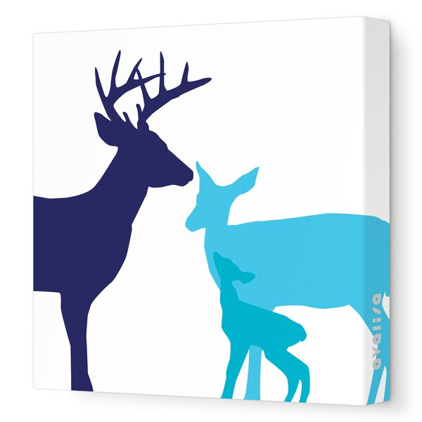 Animals Deer Stretched Canvas Art by Avalisa