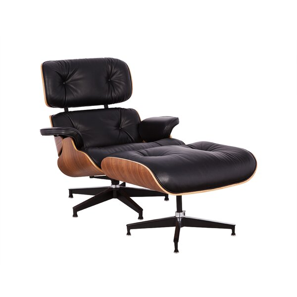 Schwab Swivel Lounge Chair and Ottoman (Set of 2)