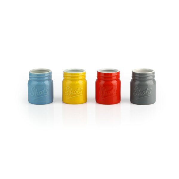 Allegan 2.4 oz. Ceramic Shot Glass (Set of 8) by Gracie Oaks