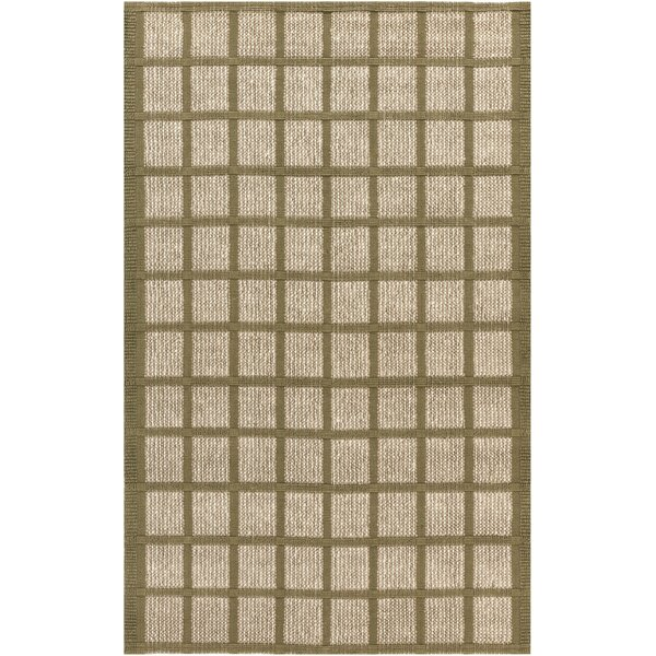 Lysi Hand-Woven Beige/Olive Area Rug by Bay Isle Home