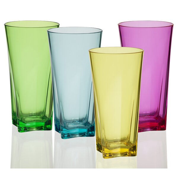 Zoey Atlantis Assorted 20 oz. Acrylic Every Day Glasses (Set of 8) by Ebern Designs