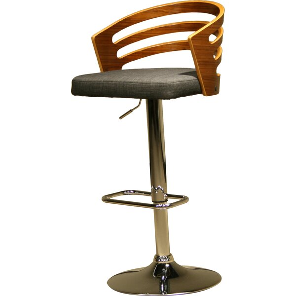 Modern Wood Adjustable Height Swivel Bar Stool by AC Pacific