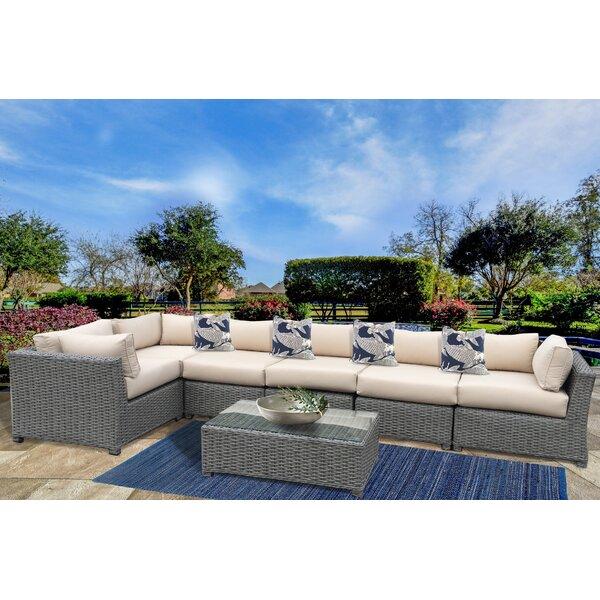 Dutil 7 Piece Sunbrella Sectional Set with Sunbrella Cushions by Brayden Studio