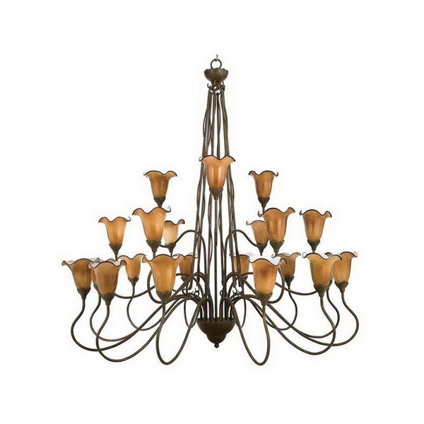 Spofford 21-Light Shaded Tiered Chandelier By Fleur De Lis Living