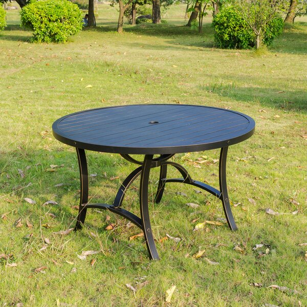Kain 48 Round Dining Table by Red Barrel Studio