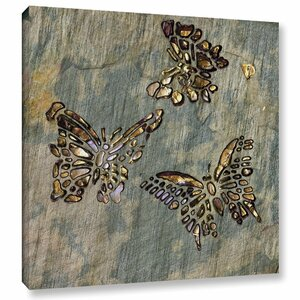 Butterflies Wall Art Wrapped on Canvas by World Menagerie