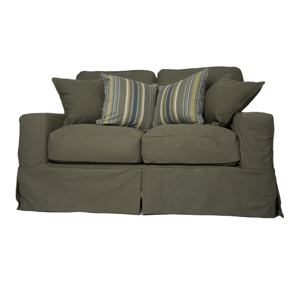 Oxalis Slipcovered Loveseat by Breakwater Bay