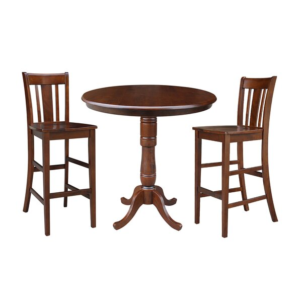 Dinges 3 Piece Pub Table Set by Darby Home Co