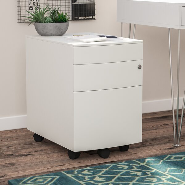 Byerly 3 Drawer Mobile Filing Cabinet by Mercury Row
