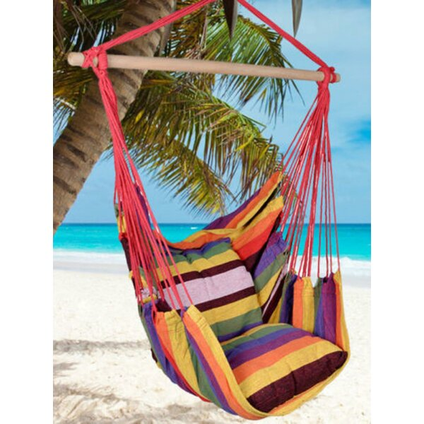 Harriette Distinctive Cotton Canvas Chair Hammock by Highland Dunes Highland Dunes