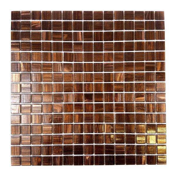 Bon Appetit 0.75 x 0.75 Glass Mosaic Tile in Glazed Antique Brass by Abolos