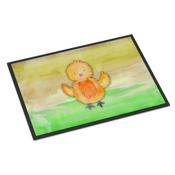 Chicken Watercolor Non-Slip Outdoor Door Mat