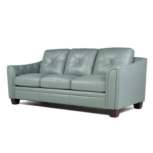 Dark Blue Leather Sofa | Wayfair