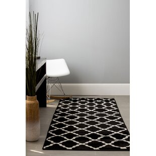 Florine Black Area Rug By Everly Quinn