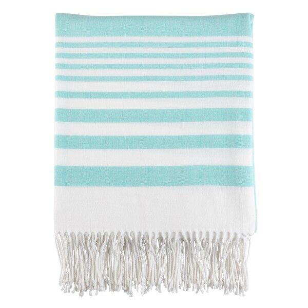 Maricela Stripes and Tasseled Fringe Blanket by Highland Dunes