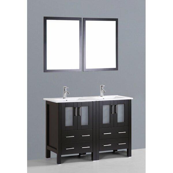 Netto 49 Double Bathroom Vanity Set with Mirror by Ebern Designs