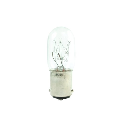 15W BA15d Dimmable Incandescent Stick Light Bulb (Set of 25) by Bulbrite Industries