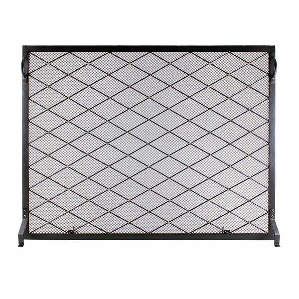 Allantra Single Panel Iron Fireplace Screen By Ebern Designs