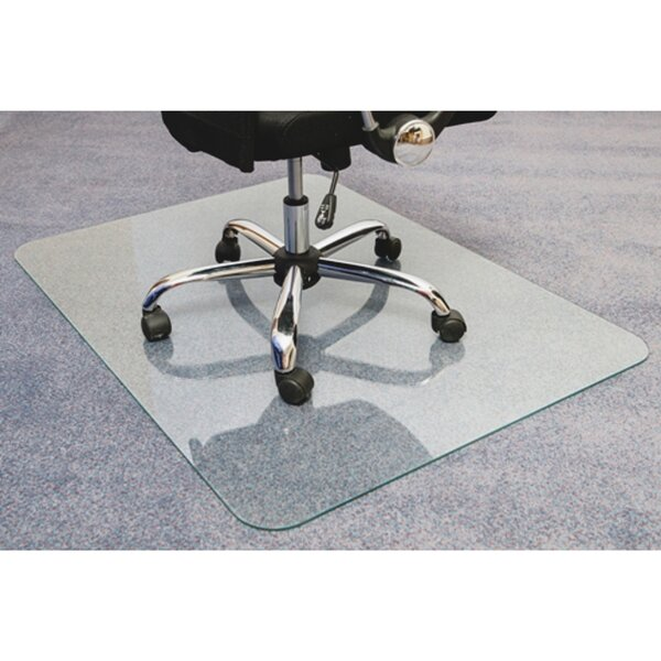 Cleartex Glaciermat Glass Ultimat Hard Floor Straight Edge Chair Mat by Floortex