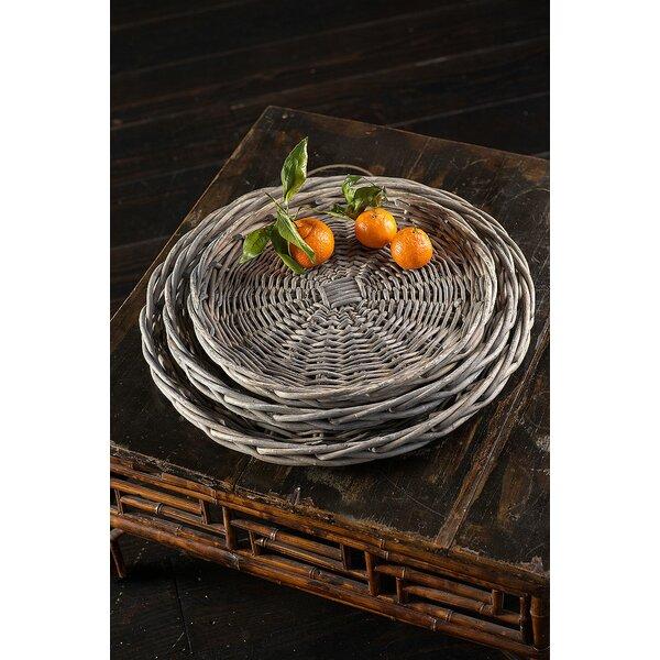 Hegeman Willow 3 Piece Platter Set by Highland Dunes