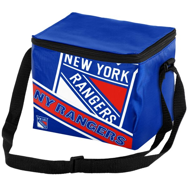6 Can NHL Big Logo Stripe Picnic Cooler by Forever Collectibles