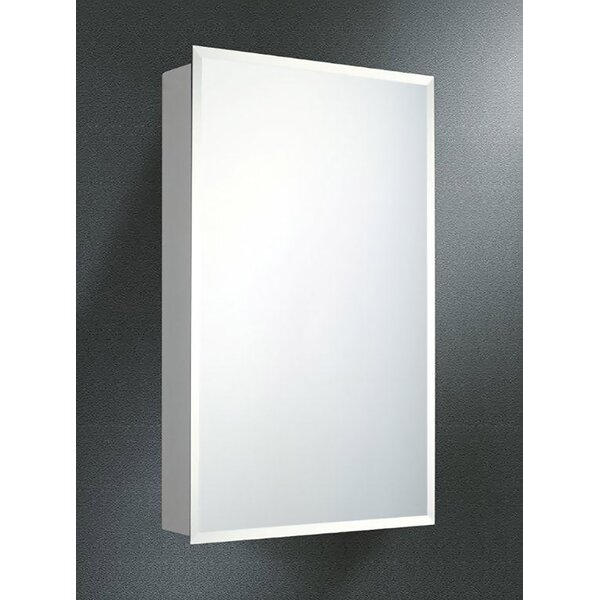 Ozella Edge Mirror Door 20 x 14 Surface Mount Frameless Medicine Cabinet with 4 Adjustable Shelves by Winston Porter