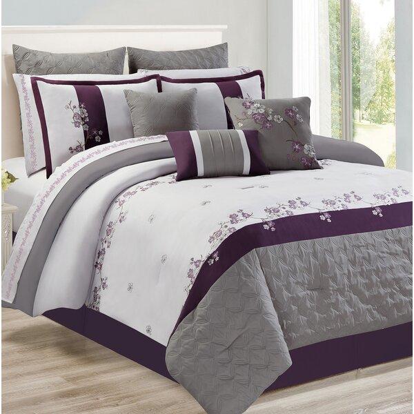 Hodnett Adina Plum Comforter Set by Charlton Home