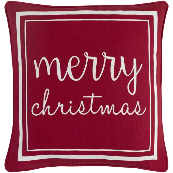 Dozier Merry Cotton Throw Pillow Cover by The Holiday Aisle