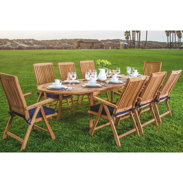 Sealcove Luxurious 9 Piece Teak Dining Set by Rosecliff Heights