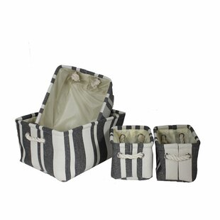 Read Reviews Fabric Utility Fabric 4 Piece Bin Set By Longshore Tides