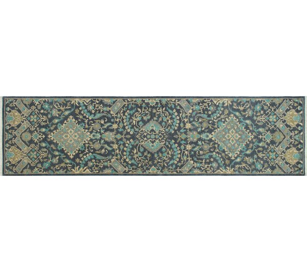 One-of-a-Kind Romona Hand Knotted Wool Charcoal Area Rug by Isabelline