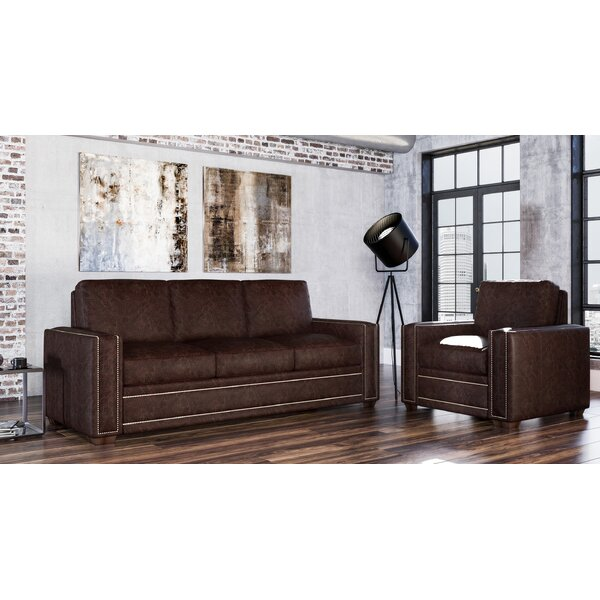 Dallas 2 Piece Leather Living Room Set By Westland And Birch