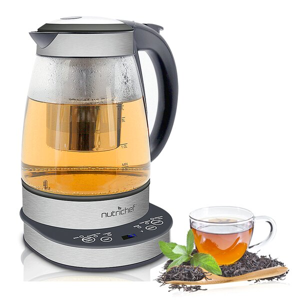 2 in 1 Glass Electric Tea Kettle by SereneLife