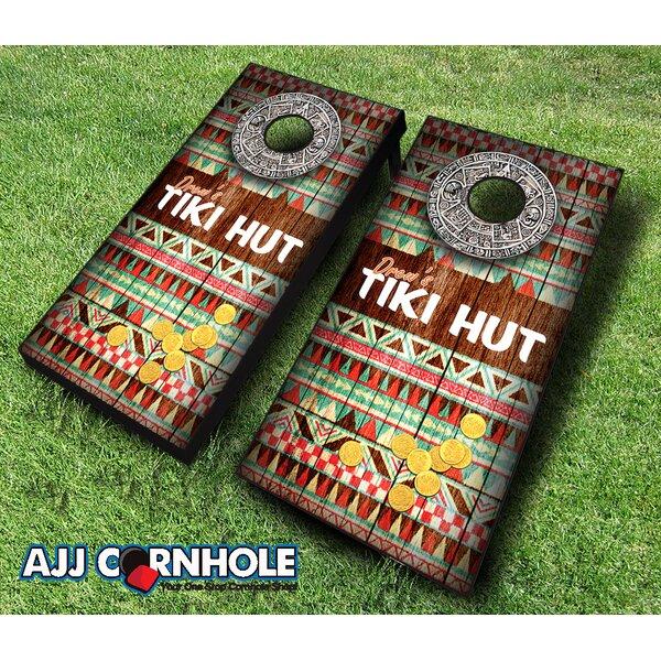 Tiki Hut Cornhole Set by AJJ Cornhole
