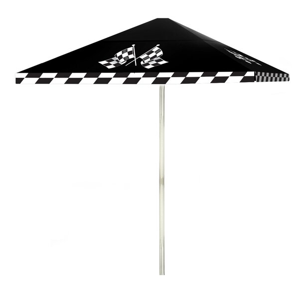 Have At It Boys 6' Square Market Umbrella by Best of Times Best of Times