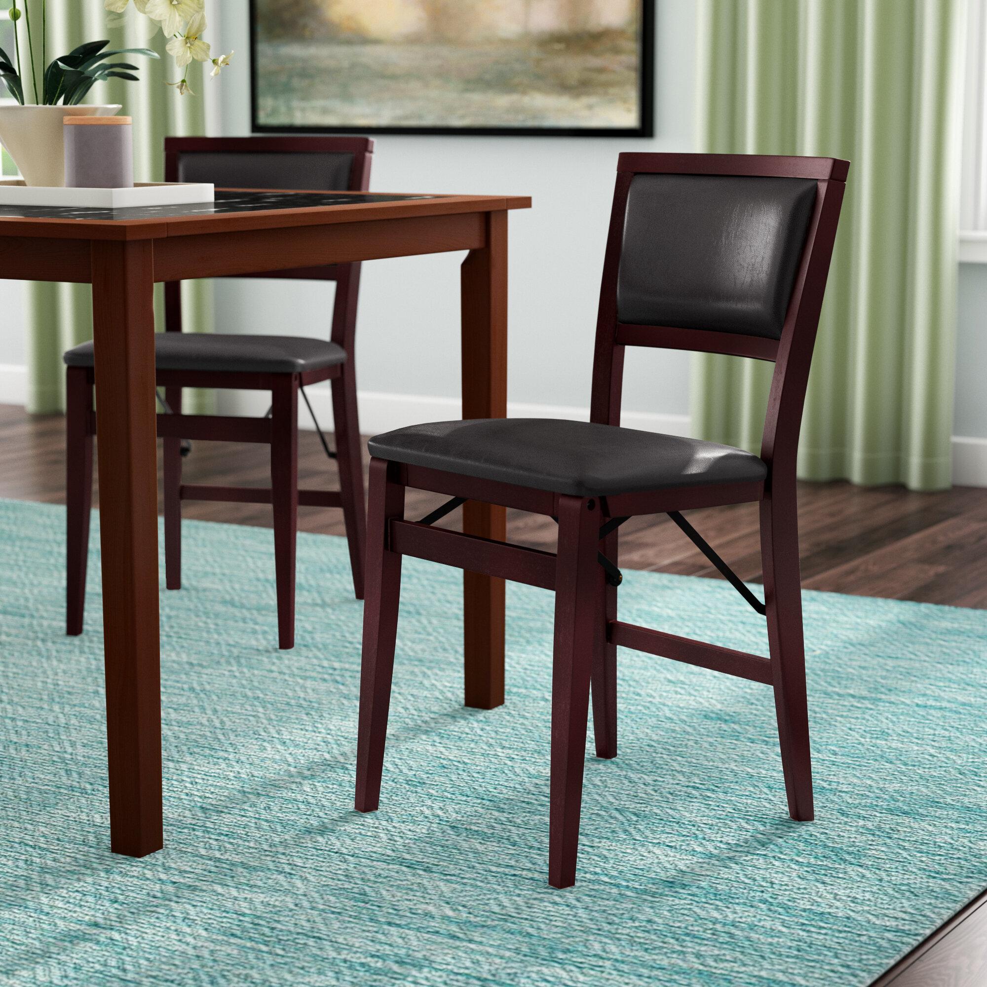 Busse Vinyl Padded Folding Chair
