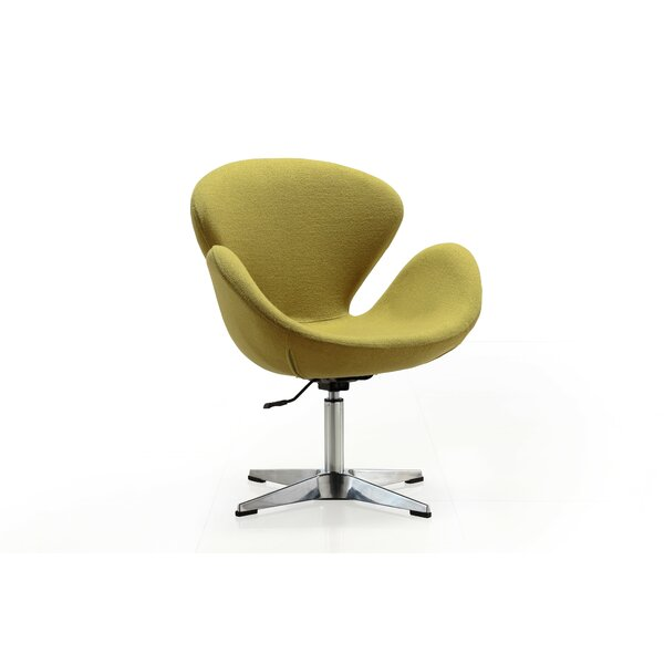 Hero Swivel Lounge Chair by Orren Ellis