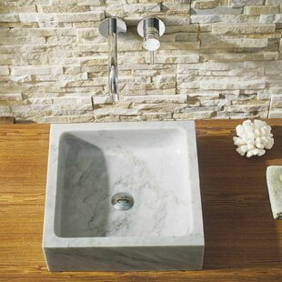 Mya Stone Square Vessel Bathroom Sink ByVirtu USA