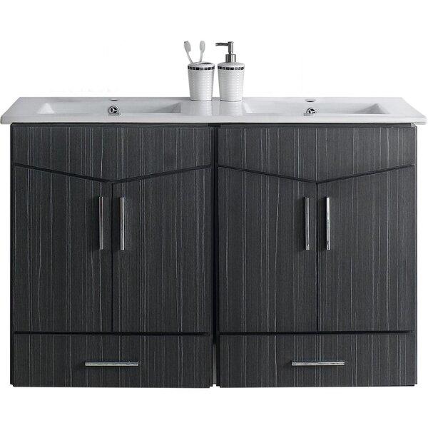 Sotera Wall Mount 48 Double Bathroom Vanity Set