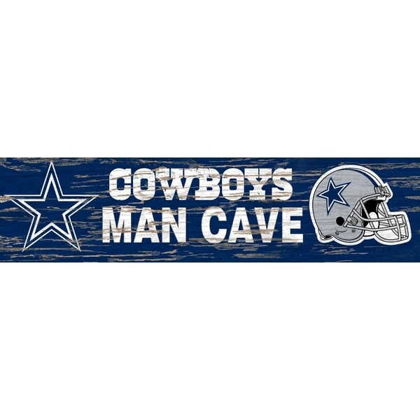 NFL Distressed Man Cave Graphic Art Print Plaque by Fan Creations