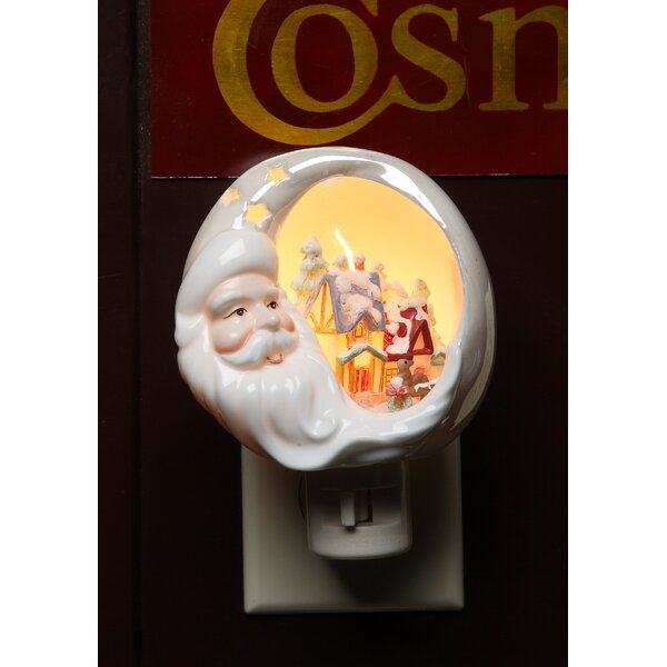 Santa House Plug-In Night Light by Cosmos Gifts