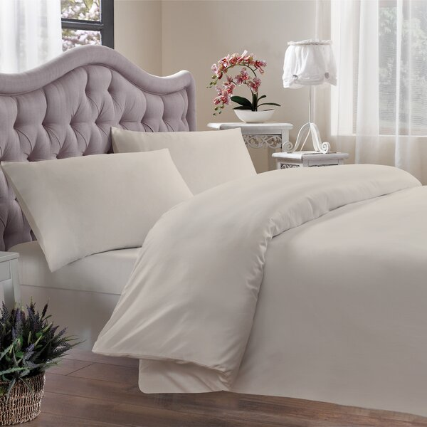 Egyptian Quality Cotton Single Reversible Duvet Cover by Brielle