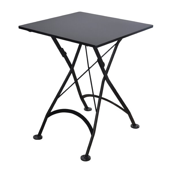 Calvano Folding Metal Bistro Table by Latitude Run