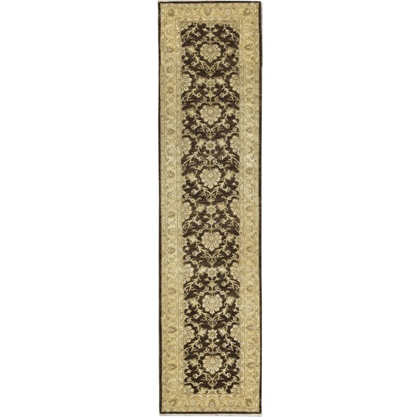 One-of-a-Kind Manchuria Handwoven Runner 2'6 x 9' Wool Brown/Gold Area Rug