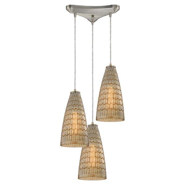 Saba 3-Light Pendant by Bay Isle Home