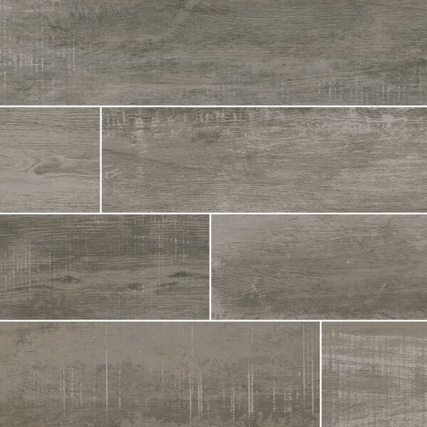 Helena Ash 6 x 40 Porcealian Wood Look Tile in Gray by MSI