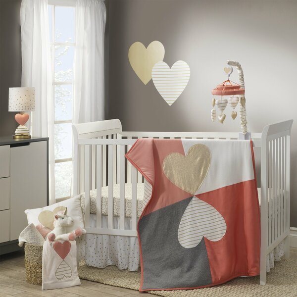 Dawn Fitted Crib Sheet by Lambs & Ivy