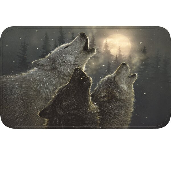 Wolves Doormat by River's Edge Products